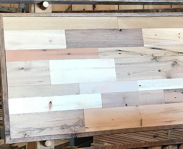 Contemporary Center Cut Wood Headboard
