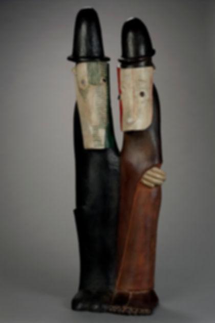 Couple aux masques - Jean-Lambert Rucki