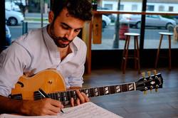 Composing. Photo by Manuel Couceiro & Pablo Benavent.