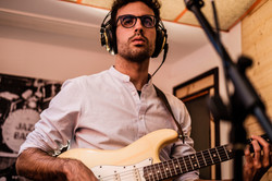 During the recording of the album Tiempo Presente. Photo by Manuel Couceiro & Pablo Benavent