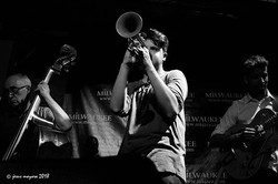 A tribute to Chet Baker. From left to right: Manuel Perfumo (Double Bass), Pablo Castillo (Trumpet),