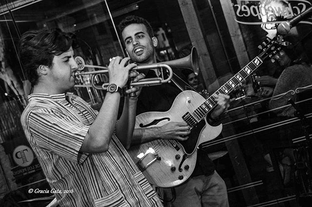 w/ Pablo Castillo (Trumpet). Photo by Gracia Gata.