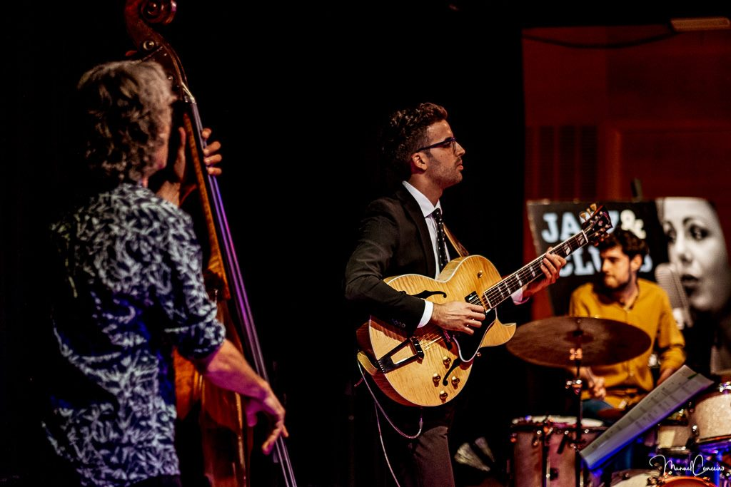 w/ Luis Casado Trio (Joan Masana on the double bass, Manu Pinzón on drums) Photo by Manuel Couceiro