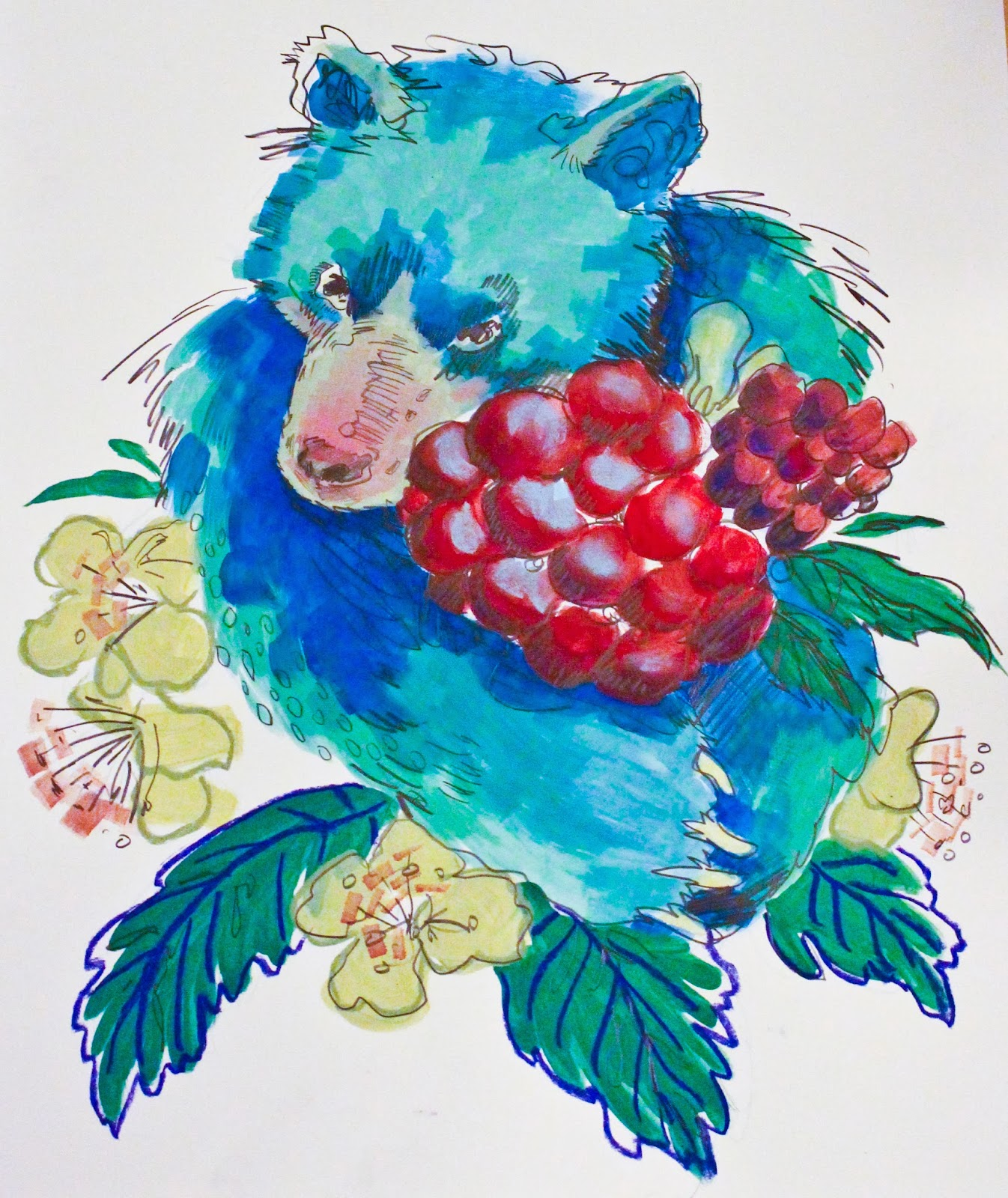 Bear with Raspberry (2014)