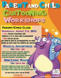 Parent-child cartooning poster