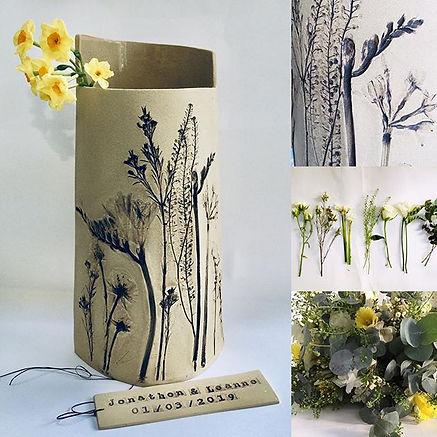 Jonathon & Leanne's vase created using