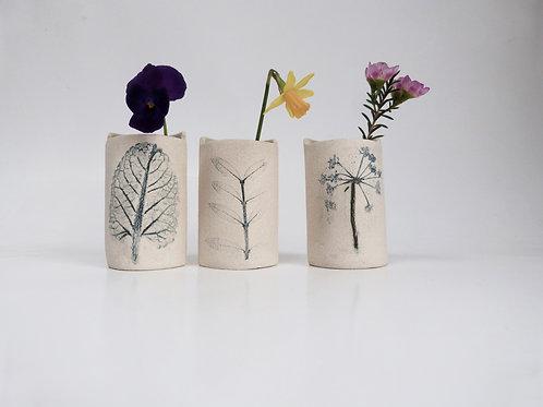 Trio of mini bud vases (1)