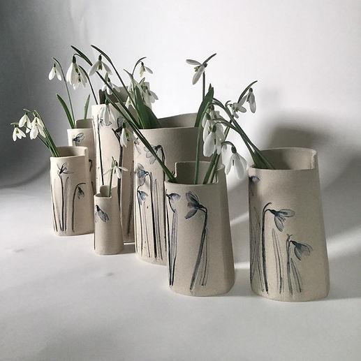 Set of snow drop vases