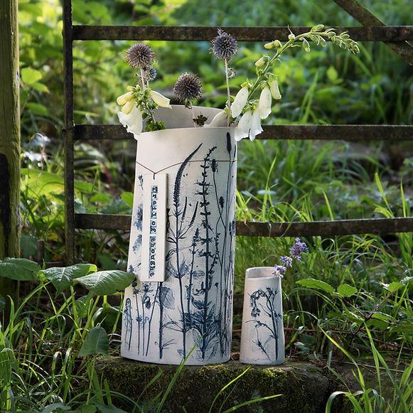 Garden flowers preserved vase