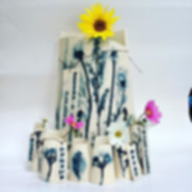 Kirsty and Leanne's wedding vase made wi