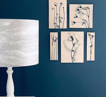 Blue plant wall collection Louise Condon Designs