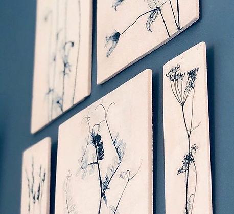 Botanical wall collection interior decor