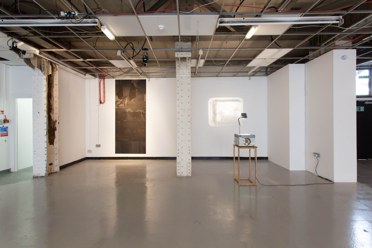 Installation view of Peacemeals, a group showroup show with Elena Gileva and Caroline Jane Harris, curated by Chloe Stavrou.