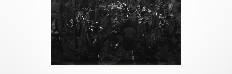 Untitled VII, archival pigment print, charcoal and graphite paper, 152 x 310 cm, 2017.