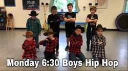 Monday 6:30 Boys Hip Hop