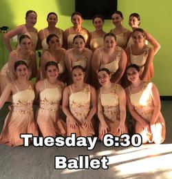 Tuesday 6:30 Ballet
