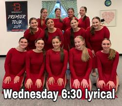 Wednesday 6:30 Lyrical