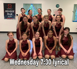 Wednesday 7:30 Lyrical