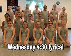 Wednesday 4:30 Lyrical