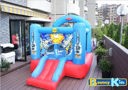 Space Invaders Bouncer with Hoop & Slide (Small-Size)2