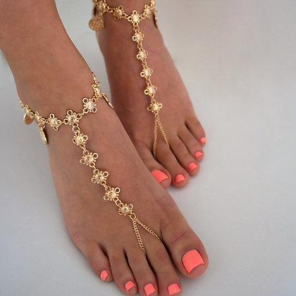 Kiss my feet chain – Flowers