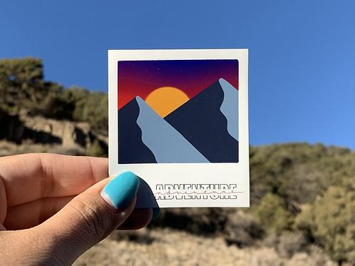 Adventure Polaroid Sticker