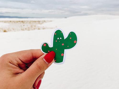 Cactus w/ flowers Sticker