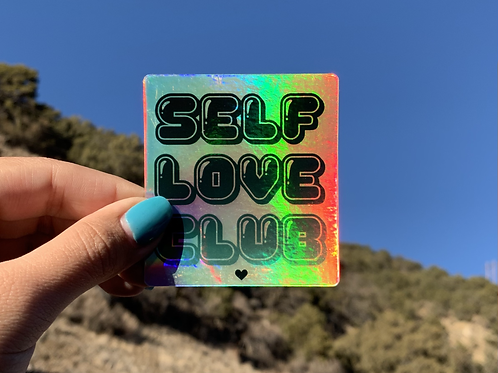 "Holographic ""Self Love Club"" Sticker"