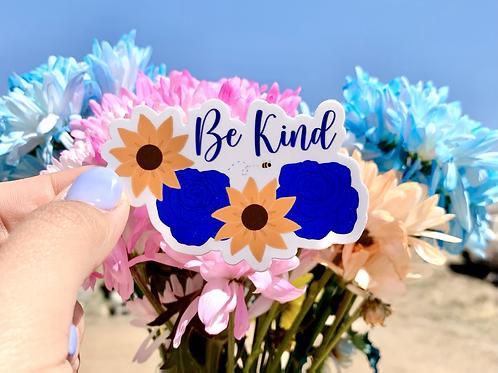 Be (bee) Kind Flower Sticker