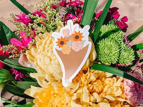 Clear Flower Bouquet Sticker