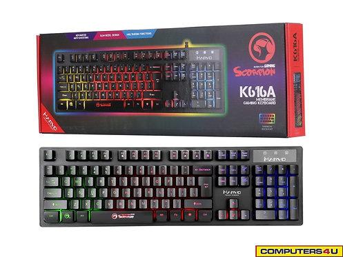 MARVO SCORPION K616A RGB BACKLIGHT GAMING KEYBOARD