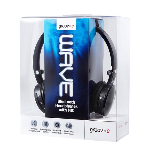 Groov-e Wave Wireless Bluetooth Heaphones with Mic