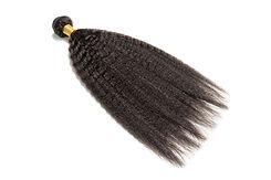 Straight black afro coarse human hair ex