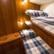 Kraken 66ft Yacht Luxury Interior Double Bunks