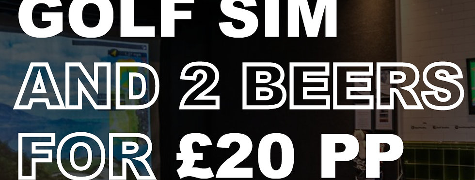 2 Hour Golf Simulator Experience and 2 Beers for £20 Per Person