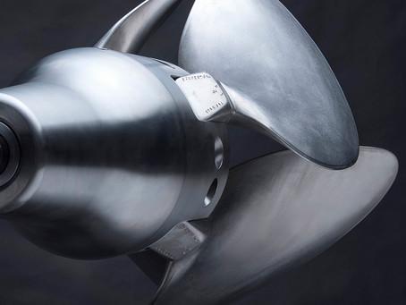 A Bruntons Propellers four blade titanium Varifold propels a Baltic 115 Custom. A World first?