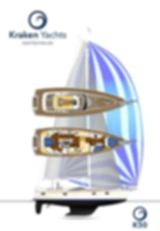 Kraken 50 ft Bluewater Sailing Yacht Render