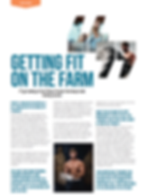 Farm Fitness Article in PT Magazine in 2017