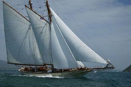 Sunshine Sailing Yacht on the ocean