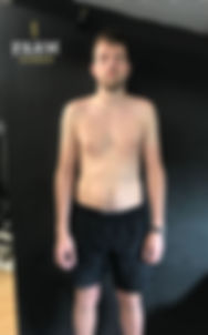 Luke before training at Farm Fitness
