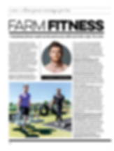 Farm Fitness article in Gay time Magazine in2017