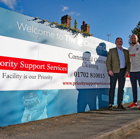 Priority Support Services sponsor Jamie Porter during the 2019 cricket season