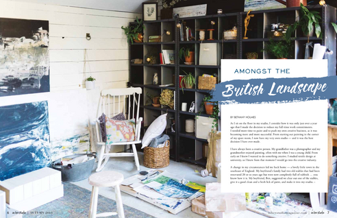 "in her studio article ""Amongst The British Landscape"""
