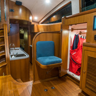 Additional Storage inside the Kraken 66 Yacht