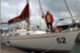 Jeanne Socrates on her Najad 38 'Nereida' Sailing Yacht