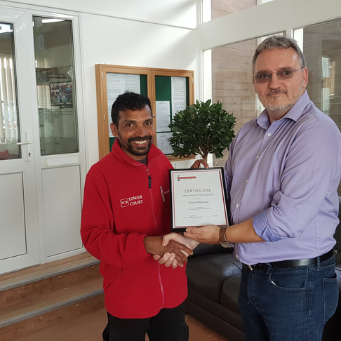 Employee of the quarter (April, May, June)