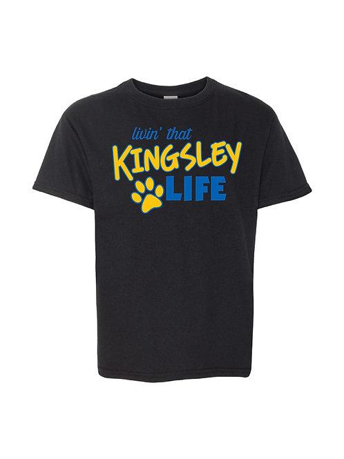 Youth T-shirt - Kinglsey Life (Black)