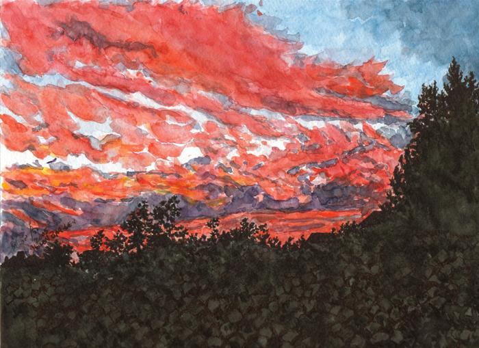 Sunset over Mevasseret