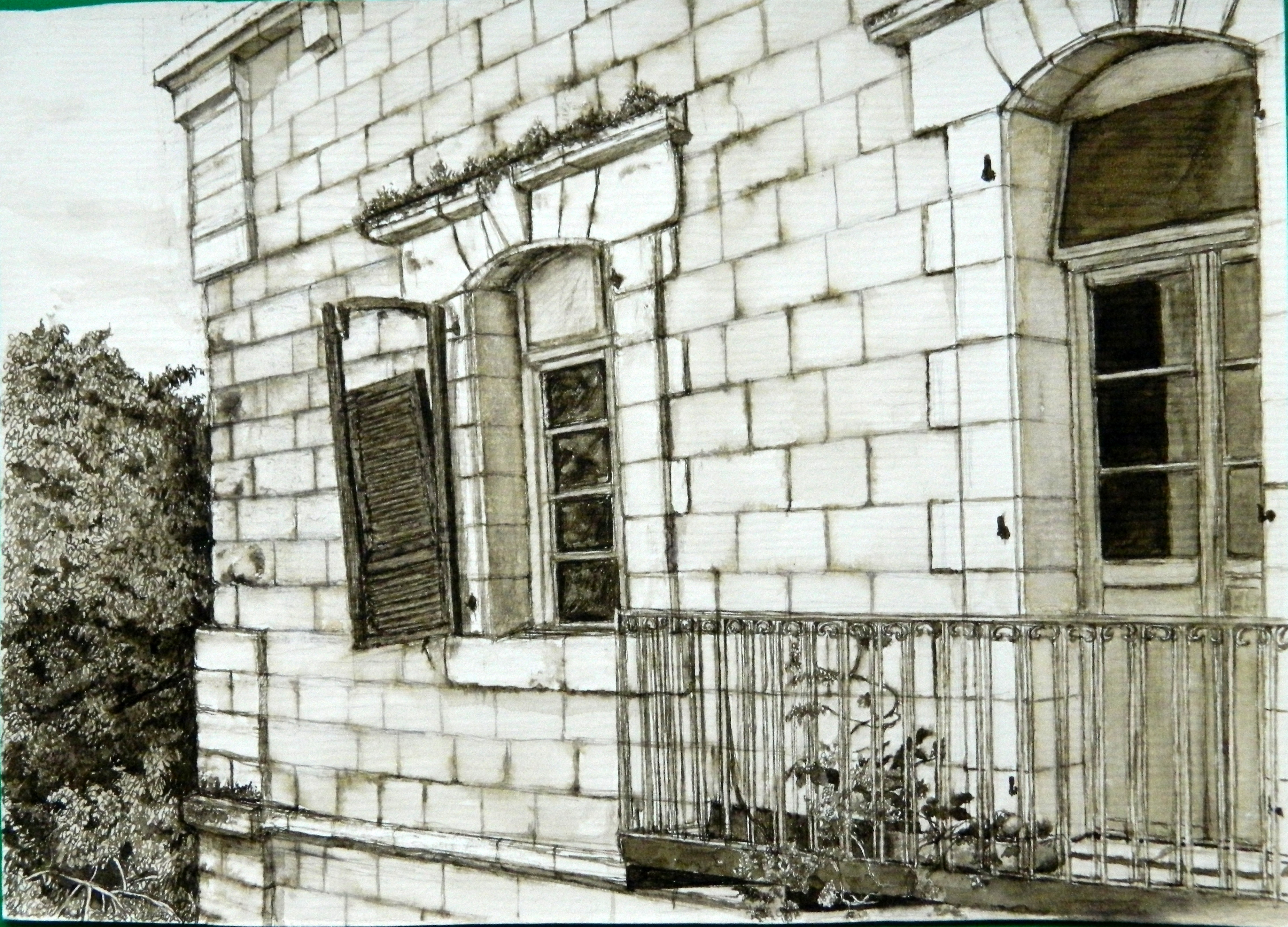 Old building in Russian Compound
