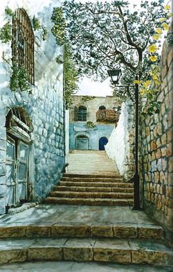 Steps in Safed Old City